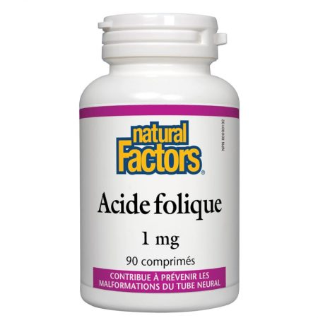 Acide Folique 1mg - Natural Factors