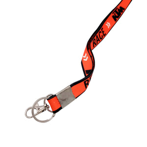 lanyard id card rope keychain ktm ready to race color orange