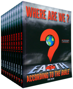 SAVE 20%  -  Pack of 10 paperback copies of WHERE ARE WE? Earth according to the Bible