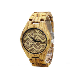 Wood Watch Natural Bamboo Wrist Watch - FidgetTrends