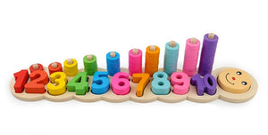 Wooden Montessori Materials Learning To Count Numbers Matching - FidgetTrends