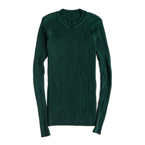 Women Sweater Pullover Basic Rib Knitted Cotton Tops - FidgetTrends