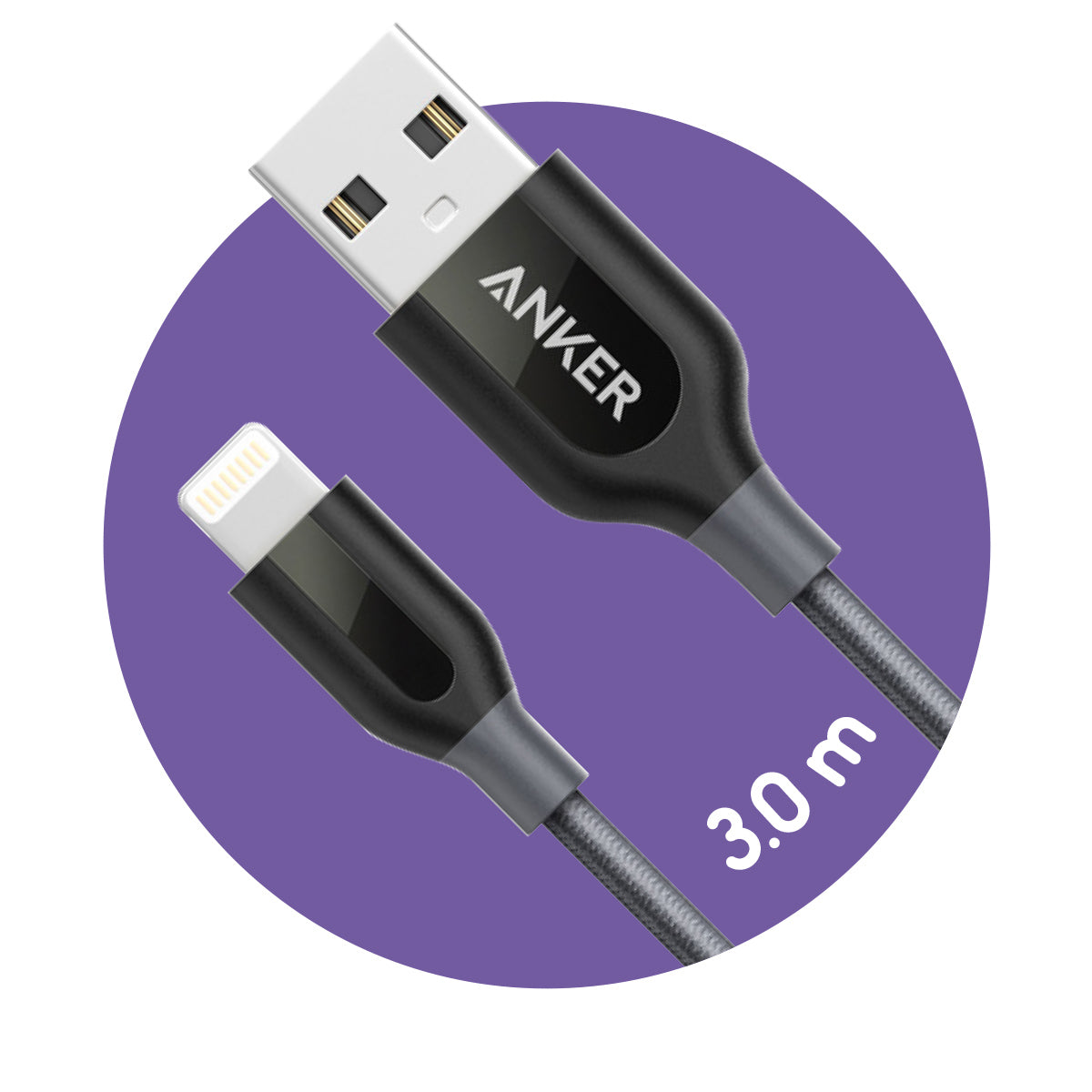 Anker PowerLine+ Lightning to USB Cable (3.0m)