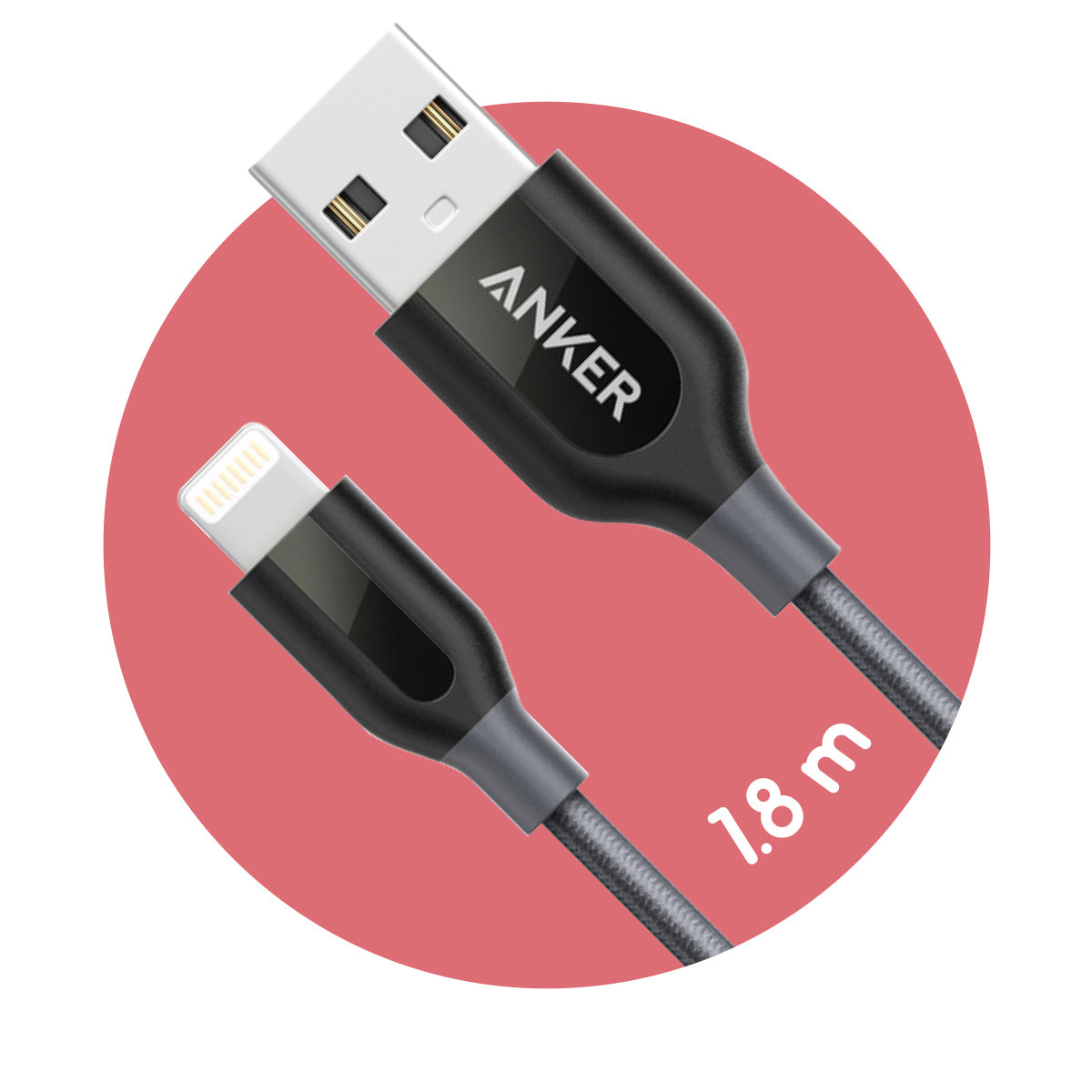Anker PowerLine+ Lightning to USB Cable (1.8m)
