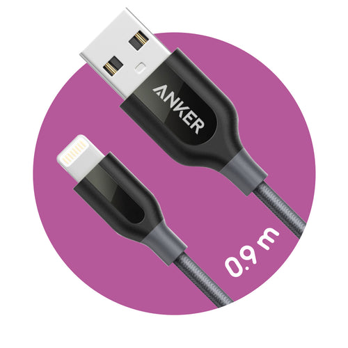 Anker PowerLine+ Lightning to USB Cable (0.9m)