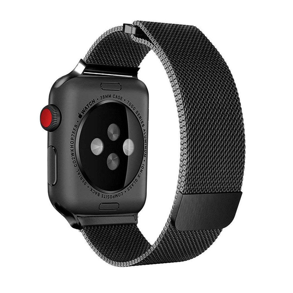 KYISGOS Milanese Loop Band (Black) for 42mm Apple Watch