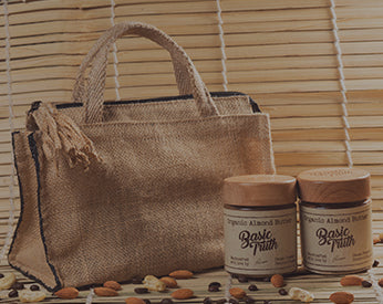 Two delicious flavors with a gracefully designed Jute bag