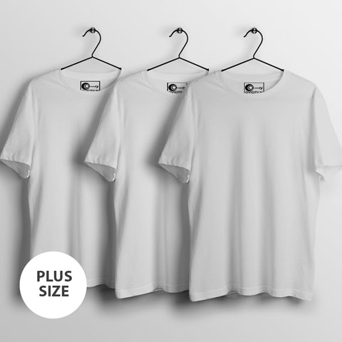 Plus size Make your own mens half-sleeve t-shirt combo (Pack of 3)