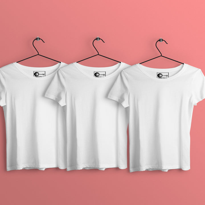 Make Your Own Womens T-shirt Combo (Pack of 3)