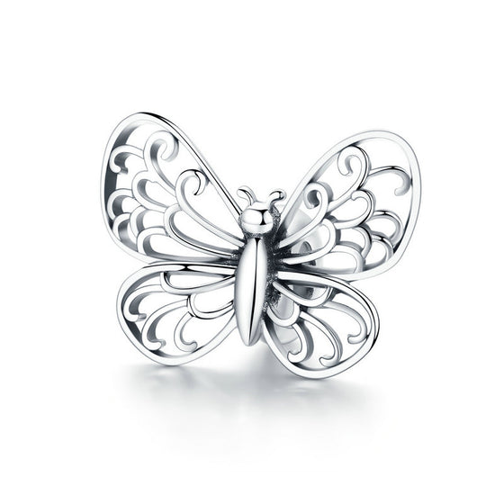 WOSTU New Fashion 925 Sterling Silver Beads Butterfly Charm Fit Original Bracelet Pendant For Women Jewelry Accessories BSC062