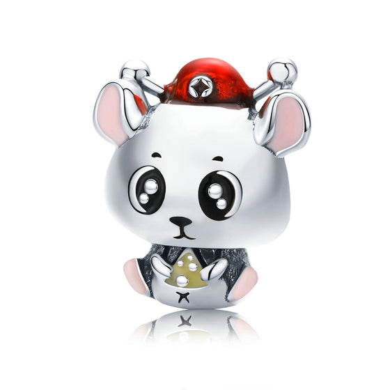 WOSTU Cute Mouse Wealth Beads BSC113 - WOSTU