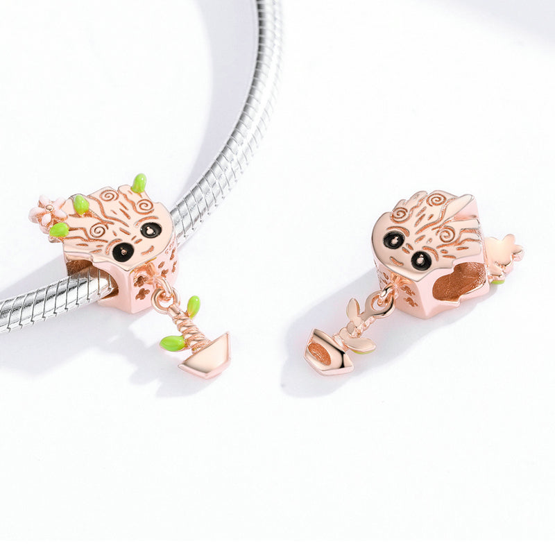 Rose Gold Color Cute Treant Charms Bsc130 Wostu