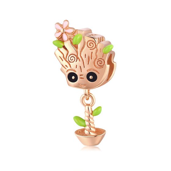 Rose Gold Color Cute Treant Charms BSC130 - WOSTU