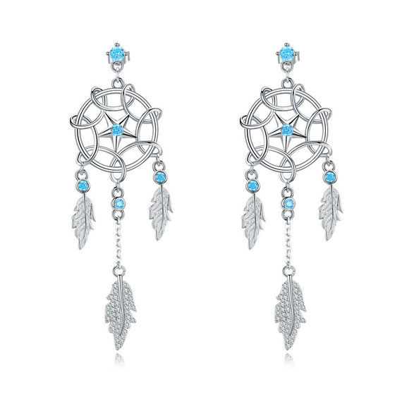 WOSTU Dream catcher Drop Earrings For Women BSE222 - WOSTU