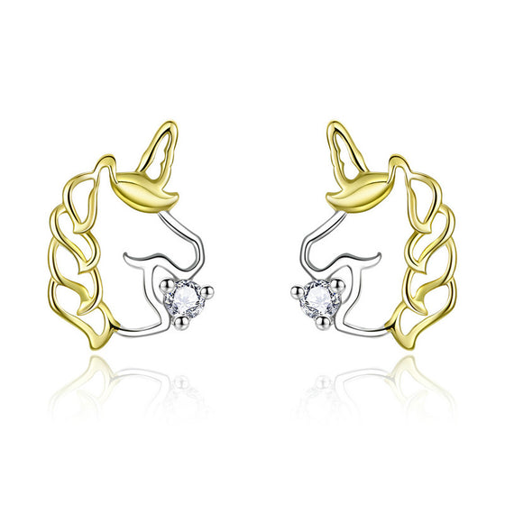 WOSTU Unicorn Earrings For Women Wedding Gift BSE234 - WOSTU