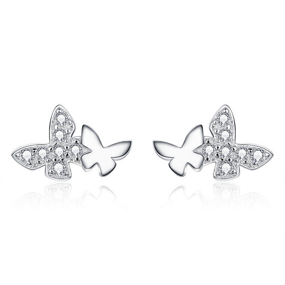 WOSTU Butterfly Stud Earrings Jewelry Gift BSE236 - WOSTU