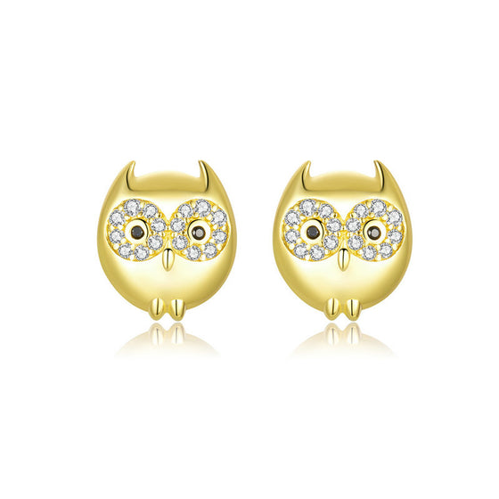 WOSTU Owl Earrings Cute Animal Earrings BSE304