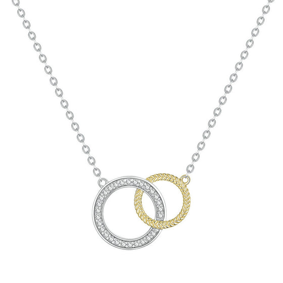 WOSTU Crystal zircon Circle necklace BSN115 - WOSTU