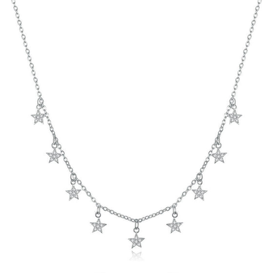 WOSTU CRYSTAL ZIRCON STAR NECKLACE BSN116 - WOSTU