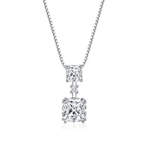 WOSTU SIMPLE ZIRCON DROP NECKLACE BSN138 - WOSTU