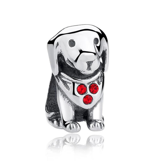 Designer 925 Sterling Soild Silver Cute Labrador Dog Charm Beads Fit Original WST Bracelet Authentic DIY Jewelry Gift SCC016 - WOSTU