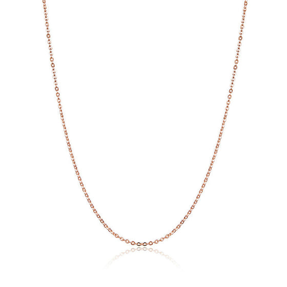 WOSTU Rose Gold Beaded Necklace Chain For Pendant Necklace 45 cm For Women DIY Jewelry Accessories SCA014 - WOSTU