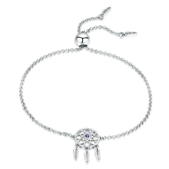WOSTU Dreamcatcher Dream Catcher Chain Adjustable Bracelet For Women S925 SilverJewelry Gift SCB111 - WOSTU