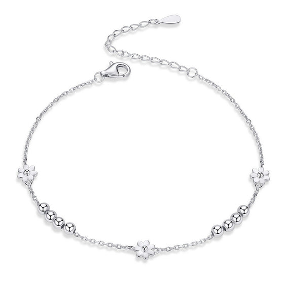 WOSTU SILVER FLOWER BRACELET FOR WOMEN SCB146 - WOSTU