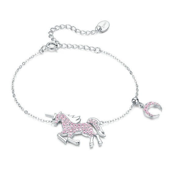 WOSTU Pink Unicorn Adjustable Bracelet SCB155 - WOSTU