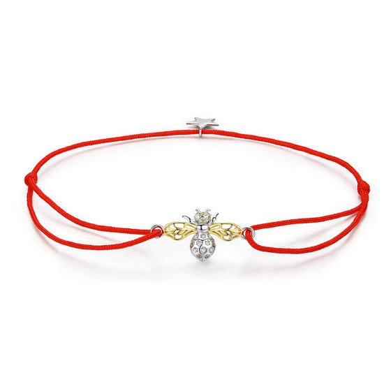 WOSTU Red Rope Bee Bracelet Jewelry Gift SCB156 - WOSTU