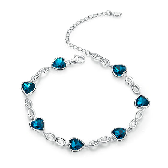 WOSTU Ocean Heart Bracelet For Women SCB163 - WOSTU