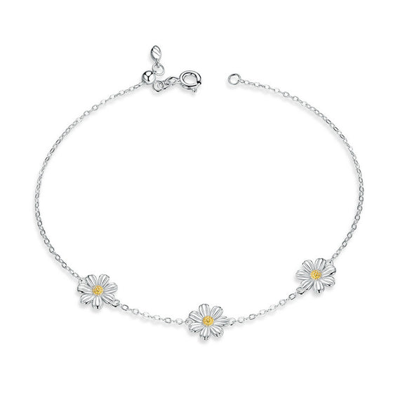WOSTU Daisy Flower Bracelet For Women SCB165 - WOSTU
