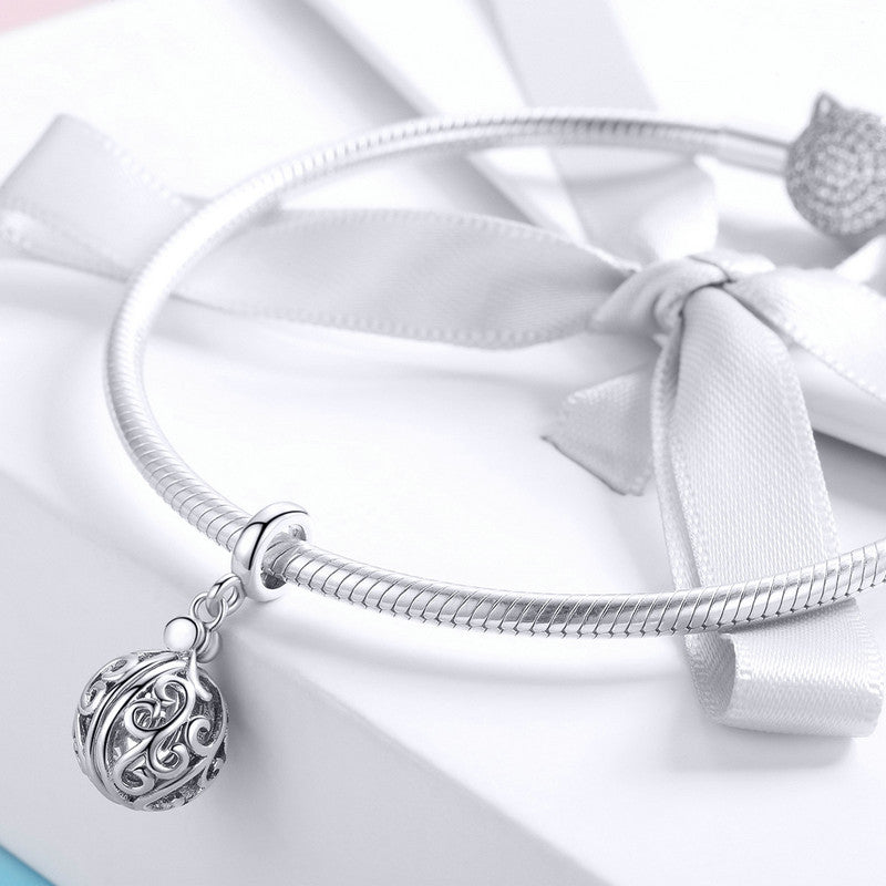 WOSTU Pure 100% 925 Sterling Silver Gratitude For Mom Charm Fit Bracelet & Necklace Pendant Unique Love Jewelry Gift SCC1008 - WOSTU