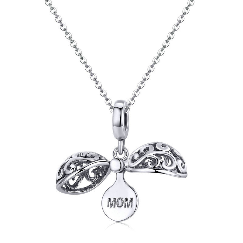 WOSTU Pure Gratitude For Mom Charm Fit Bracelet & Necklace Pendant Unique Love Jewelry Gift SCC1008 - WOSTU