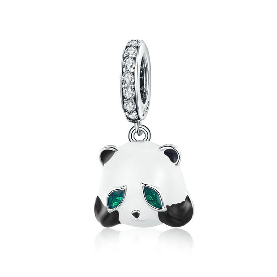 WOSTU Lovely Cute Panda Animal Beads Fit Charm Bracelet Necklace Pendant For Women Fashion Jewelry SCC1096 - WOSTU