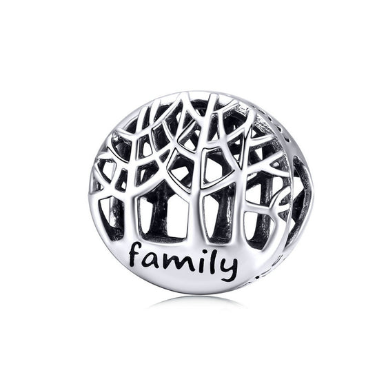 WOSTU 925 Sterling Silver Family Roots Bead Silver Enamel Fit Original Bangle & Bracelet Women Charms DIY Jewelry Making SCC1144 - WOSTU