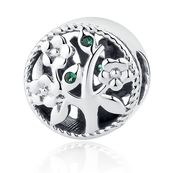 925 Sterling Silver Tree of Life Bead Charms fit Bracelets Women Beads & Jewelry Making DIY SCC115 - WOSTU