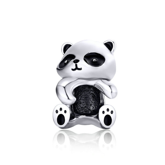 WOSTU Panda Animal Beads 925 Sterling Silver Lovely Bead Fit Original Charm DIY Bracelet Bangles Women Beads Accessories SCC1175