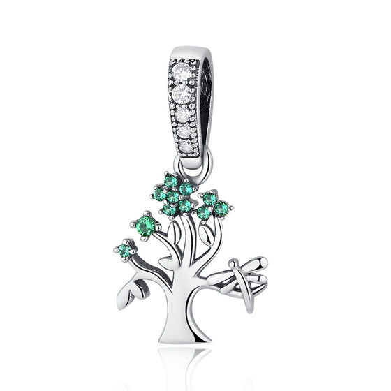Vivid Green Tree of Life Pendant Charms fit Bracelets Women DIY Beads & Jewelry Making SCC117 - WOSTU
