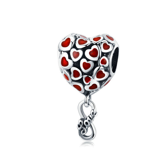 WOSTU Infinity Love Heart Dangle Charm 925 Sterling Silver Zircon Beads Fit Original Bracelet Pendant Lover Jewelry Gift SCC1180
