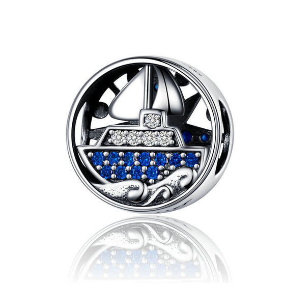 WOSTU Pleasure Boat Tours Beads 925 Sterling Silver European Style Charm Fit Original Bracelet Pendant Jewelry Making SCC1197 - WOSTU