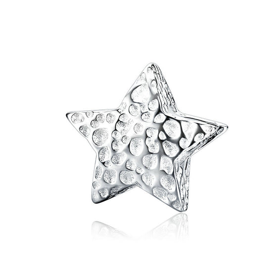 WOSTU Genuine 925 Sterling Silver Starshine STAR Charm Fit Original Bracelet Beads Bangle Jewelry Accessories SCC1246 - WOSTU