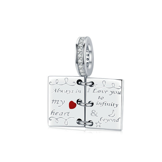 WOSTU Love Story Notebook Dangle Charms SCC1262 - WOSTU