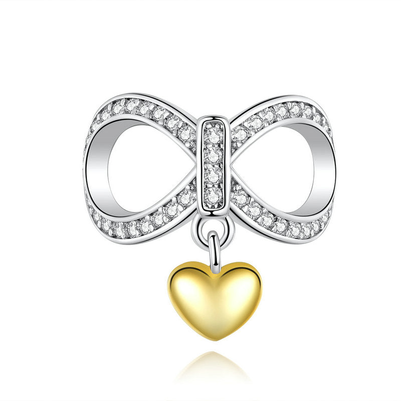 WOSTU GOLDEN HEART CHARM BEADS SCC1300 - WOSTU