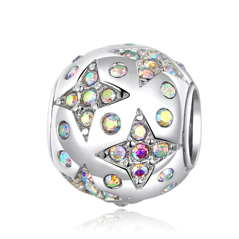 WOSTU COLORFUL CRYSTAL ZIRCON CHARM BEADS SCC1308 - WOSTU