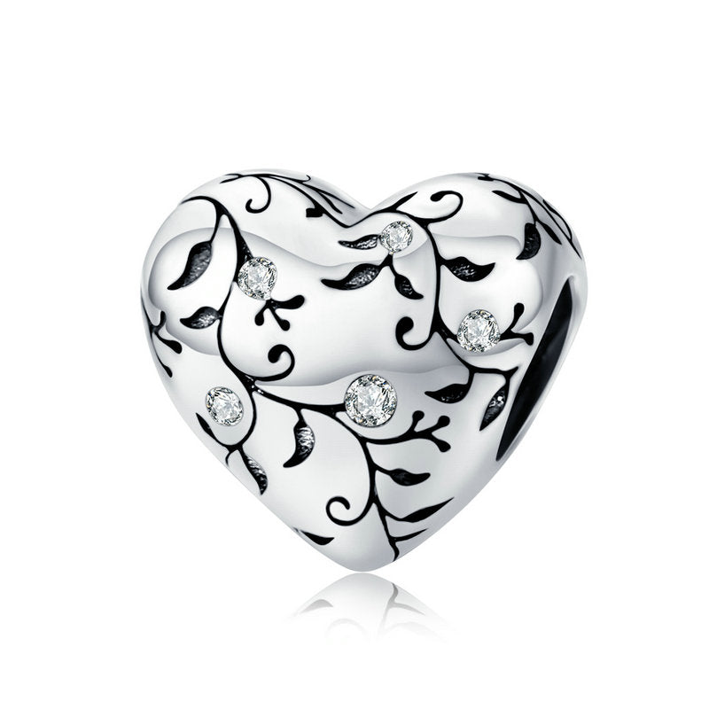 WOSTU FLOWER HEART DIY CHARM BEADS SCC1323 - WOSTU