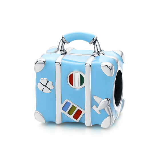 WOSTU Suitcase Luggage Blue Beads SCC1377 - WOSTU