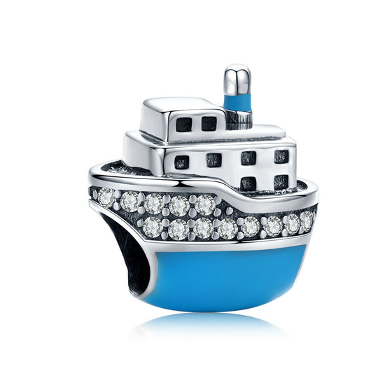 WOSTU Travel Cruise Ship Blue Beads SCC1379 - WOSTU