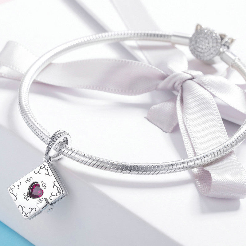 WOSTU Forever Love Letter Dangles Charms Fit Bracelet & Necklace Pendant Romantic Jewelry SCC980 - WOSTU
