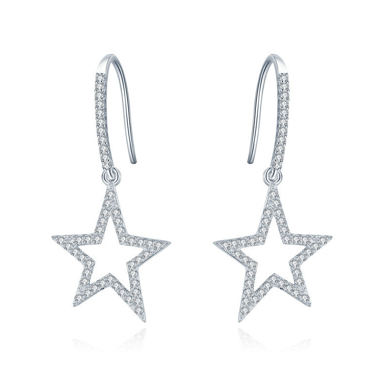 WOSTU Glittering Star Drop Earrings For Women Engagement Birthday Simple  Unique Jewelry Gift SCE434 - WOSTU